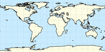 Equirectangular projection
