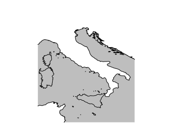 Corrupted map of Italy