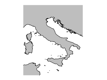 Correct map of Italy
